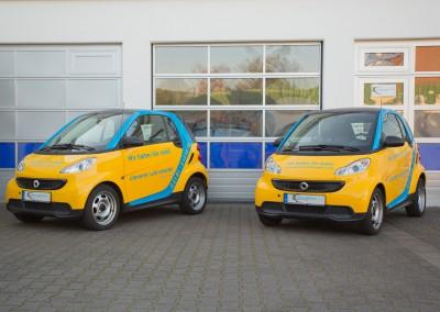 Unsere Smart Leihfahrzeuge für Kunden