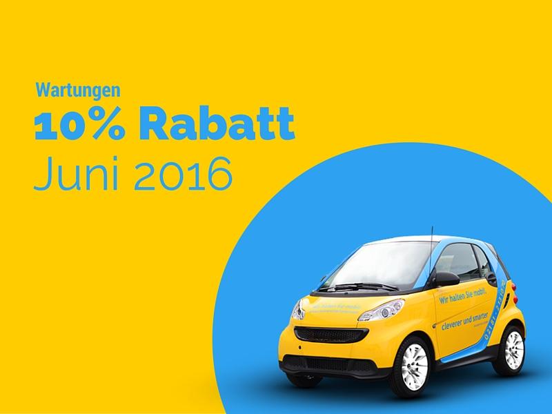Wartungen – 10% Rabatt im Juni 2016 –