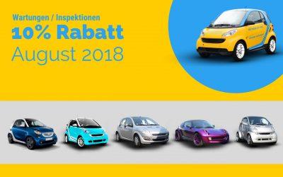 Rabattaktion August – 10% auf alle Wartungsdienst- / Inspektions-Festpreise (für alle Modelle)