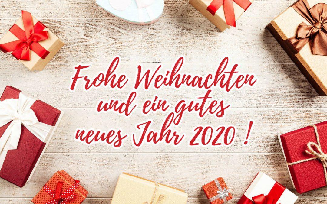 Frohe Weihnachten und einen guten Rutsch – Öffnungszeiten / Urlaub bis 18.01.2020