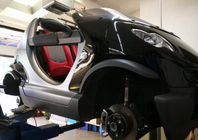 Bilder aus unserer Smart Werkstatt - Crossblade - Smart ohne Dach und Frontscheibe